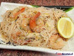Pad Thai de Pollo y Camarones